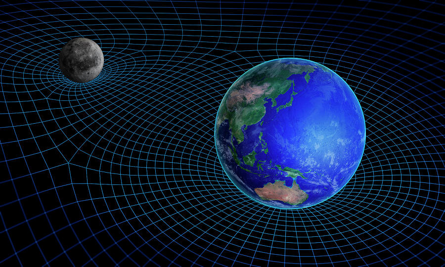 3 Dimensional Photograph - Gravity In Outer Space 1 by Andrzej Wojcicki