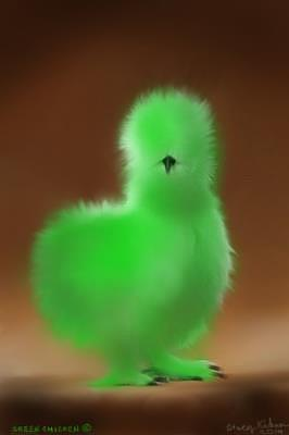 Green chicken silkie painting by kirkner stacy for Silverleaf com