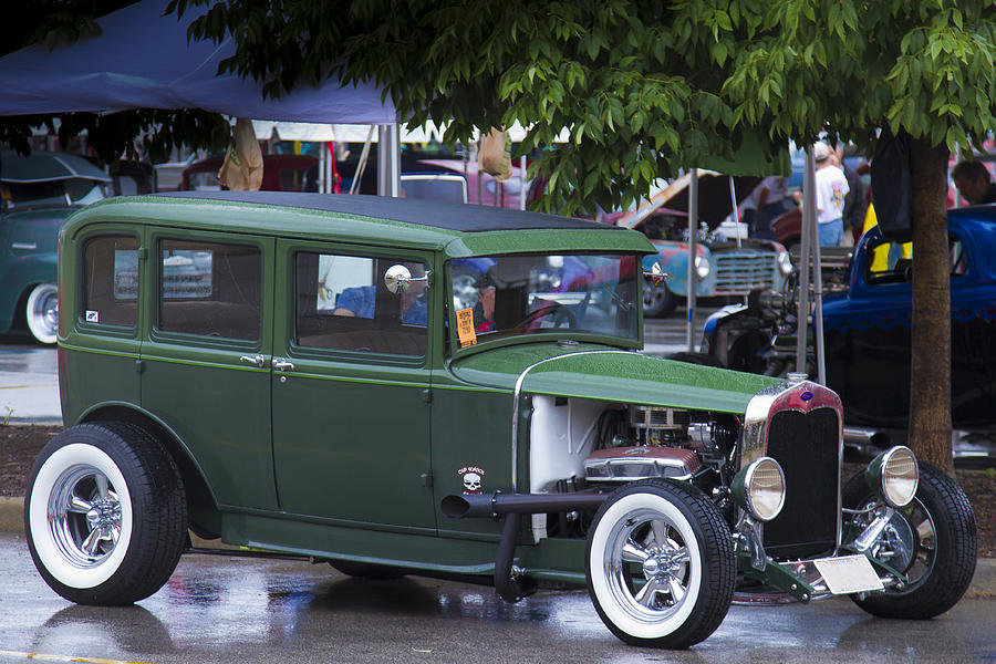 American Photograph - Green Limo by Jack R Perry