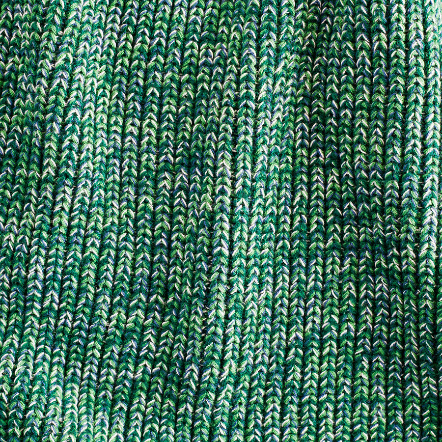 Abstract Photograph - Green Wool by Tom Gowanlock