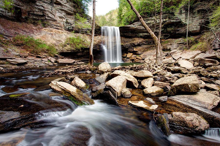 Cascade Photograph - Greeter Falls  by Scott Moore