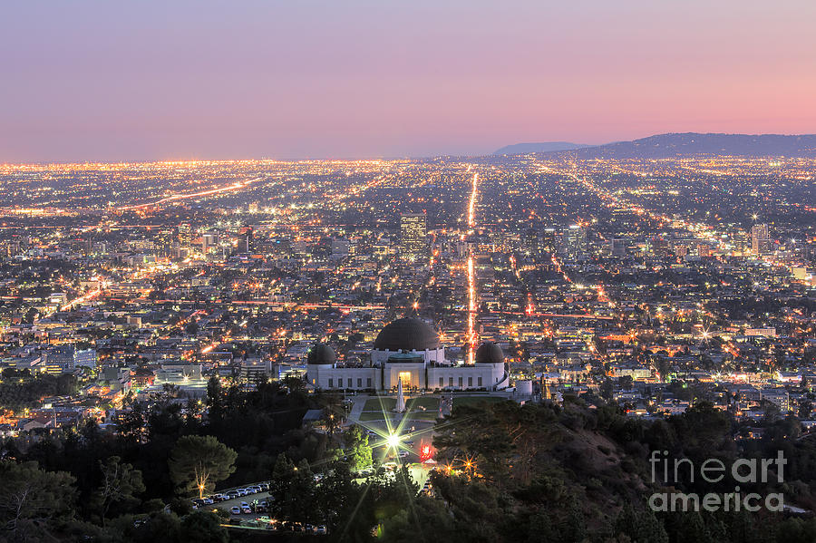 Los Angeles Photograph - Griffith Observatory Los Angeles by Shishir Sathe