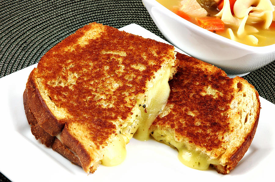 Grilled Photograph - Grilled Cheese by Karin Hildebrand Lau