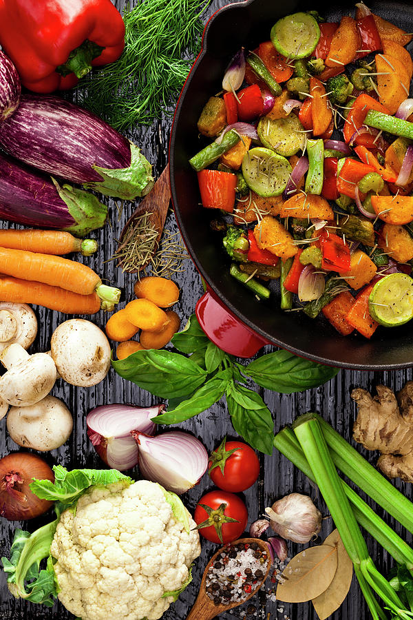 Grilled Vegetables Photograph by Fcafotodigital