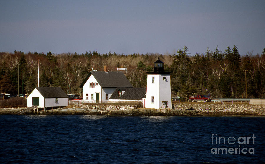 Lighthouses Photograph - Grindel Point Lighthouse  by Skip Willits