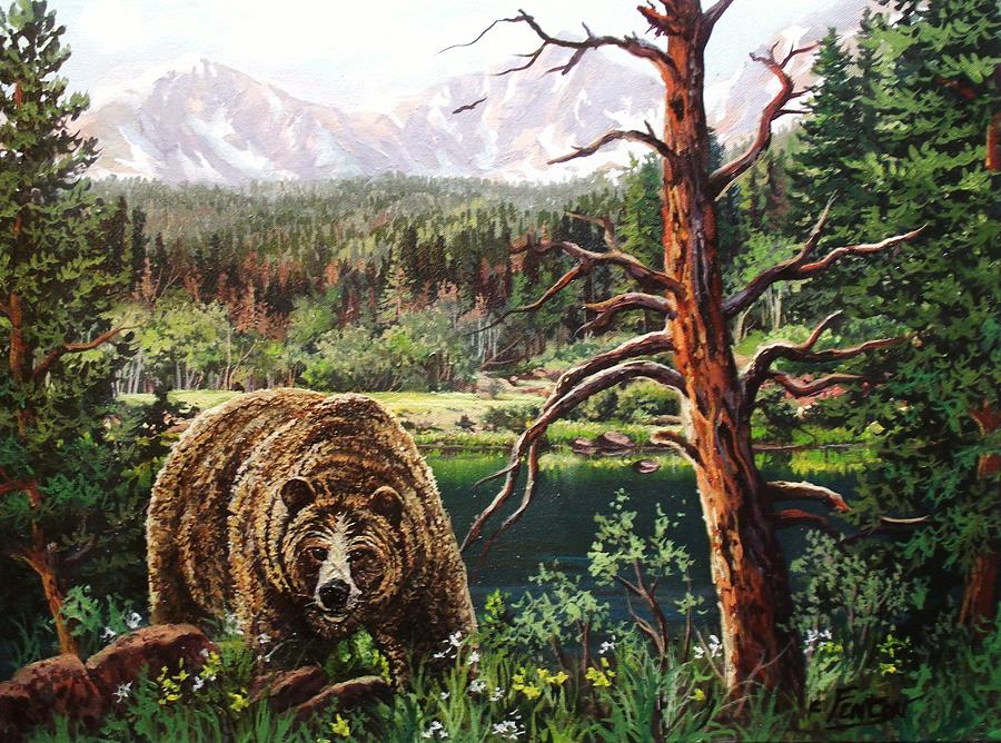 Grizzly Painting - Grizzley by W  Scott Fenton