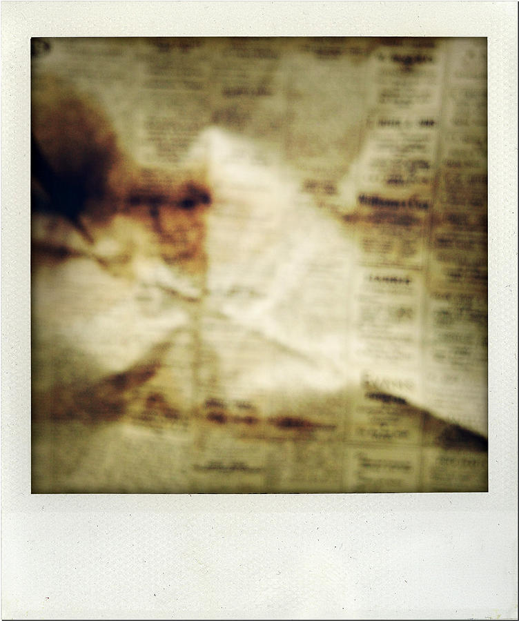 Words Photograph - Grunge Newspaper by Les Cunliffe