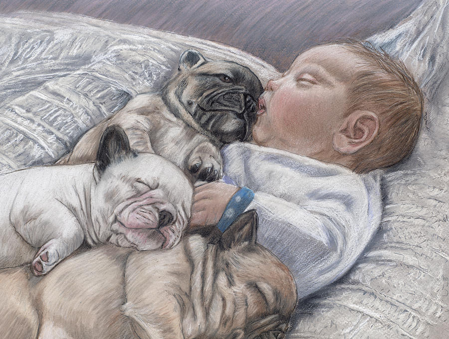 Baby Pastel - Guardian Angles by Ellen Lyner