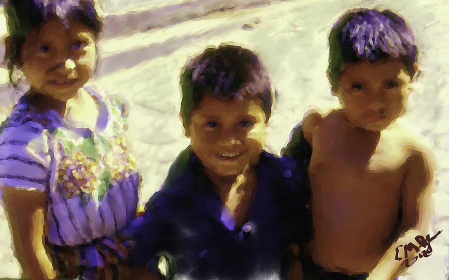 Guatemalan Kids Painting by Elizabeth Iglesias