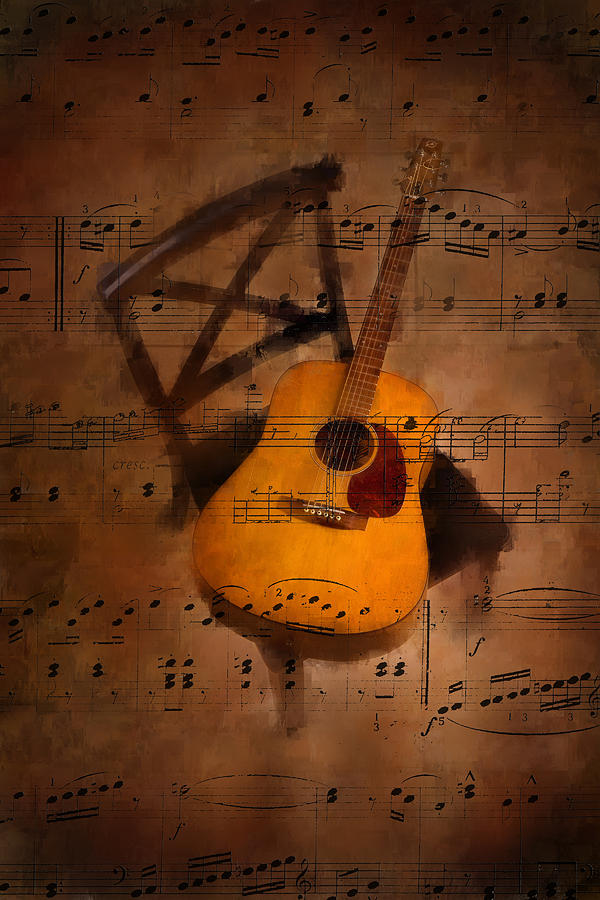 Music Photograph - Guitar No.5 by Brian Enright