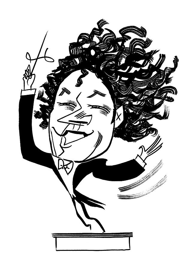 Gustavo Dudamel Drawing by Tom Bachtell