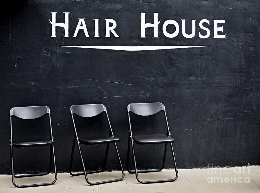 Black And White Photograph - Hair House by Steven Liveoak