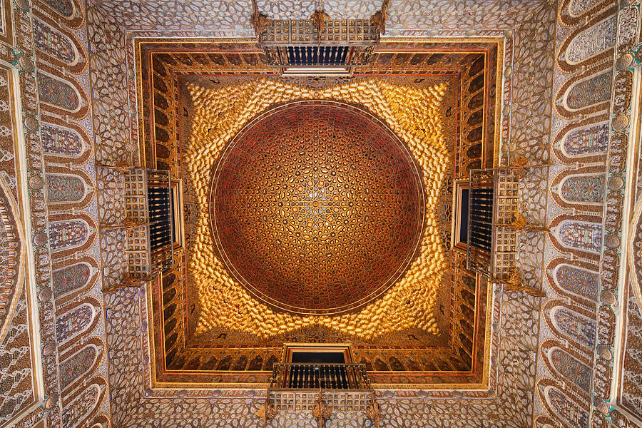 Seville Photograph - Hall Of Ambassadors In The Royal Alcazar Of Seville by Artur Bogacki