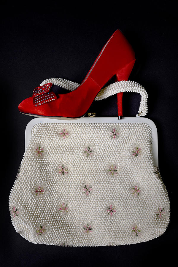 Shoe Photograph - Handbag With Stiletto by Joana Kruse