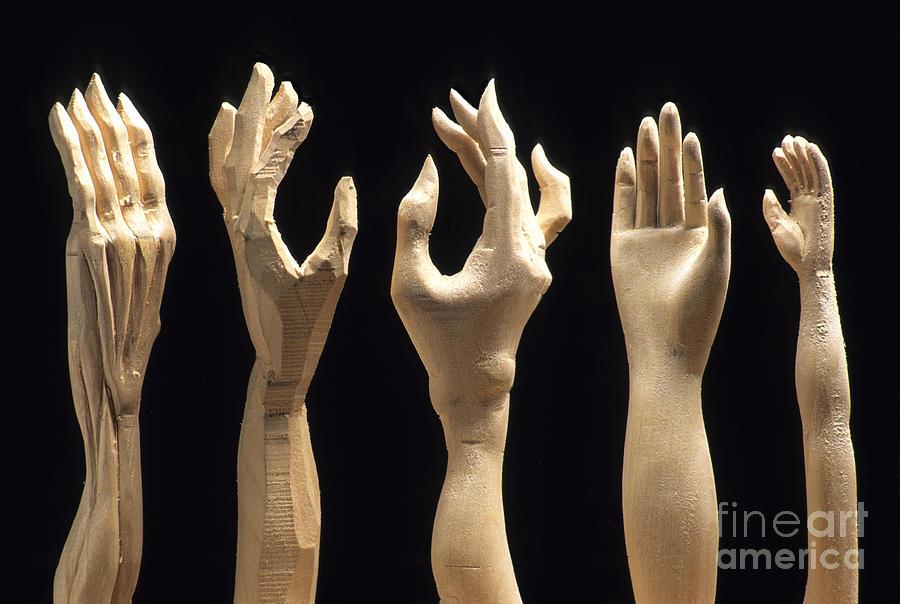 Hands Of Wood Puppets Photograph by Bernard Jaubert