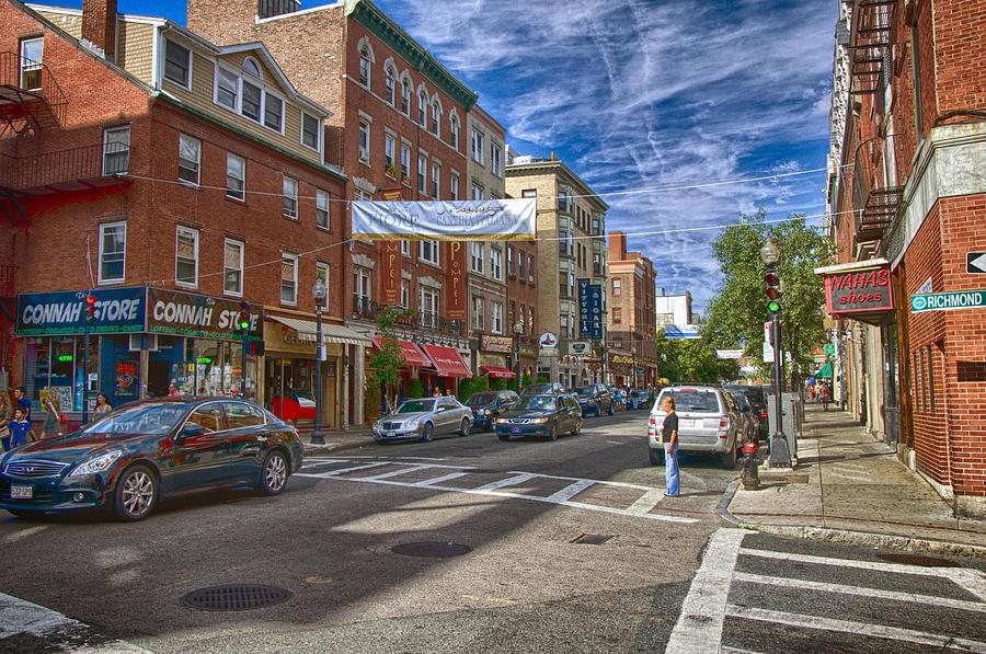 Boston Photograph - Hanover St. by Joann Vitali
