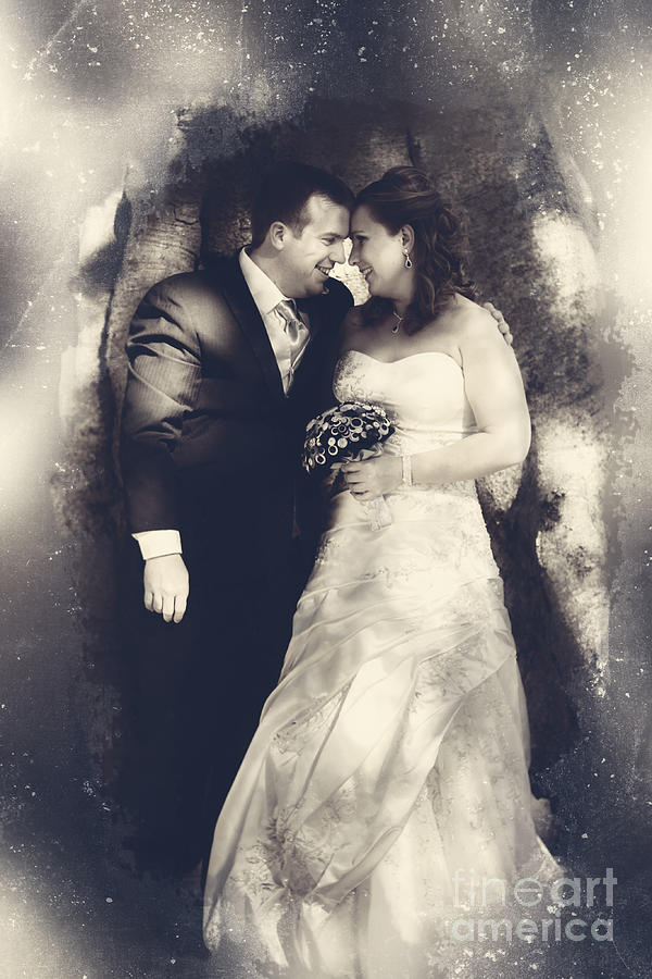 Bride Photograph - Happy Bride And Groom In A Wedding Romance 1 by Jorgo Photography - Wall Art Gallery