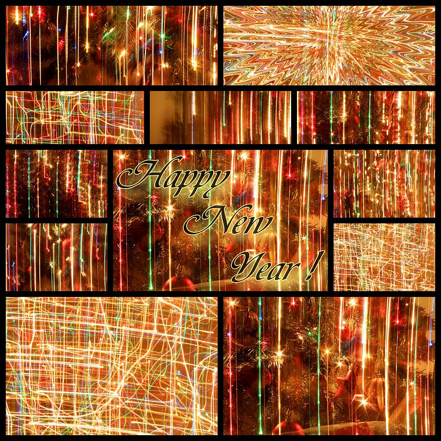 Greeting Card Photograph - Happy New Year Collage  by Julia Fine Art And Photography
