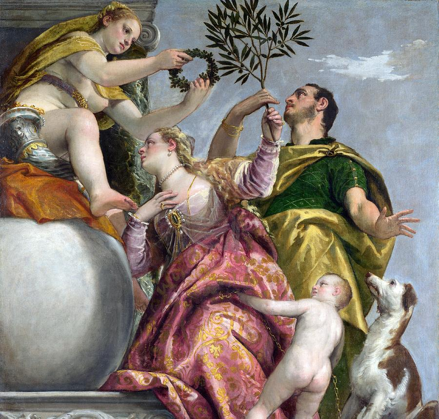 1575 Painting - Happy Union by Paolo Veronese
