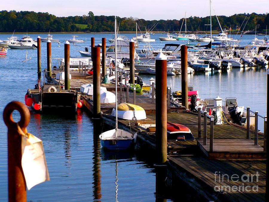 New England Photograph - Harbor Boats by Carolyn Kami Loughlin