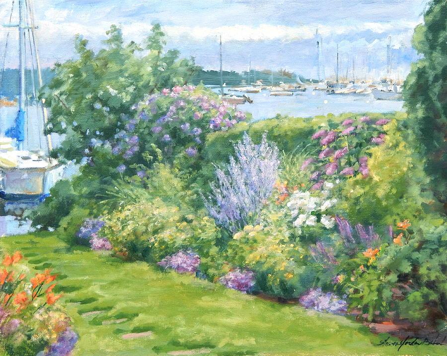 Gardens Painting - Harbor Garden by Sharon Jordan Bahosh