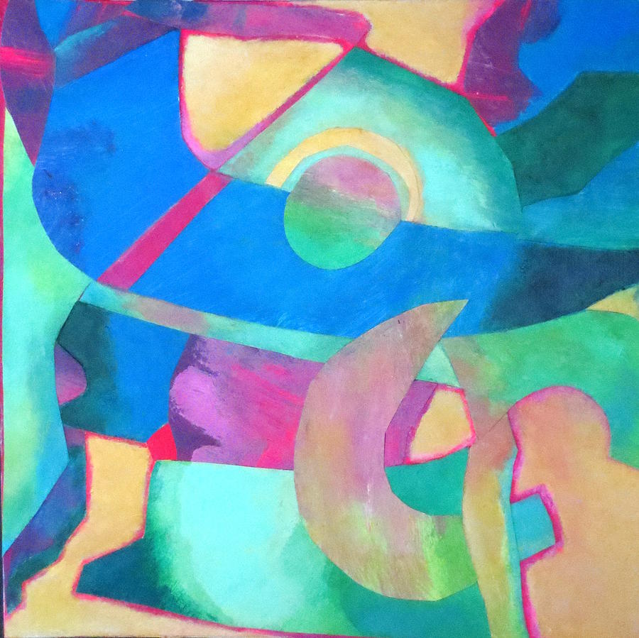 Shapes And Colour Mixed Media - Harmony In G by Diane Fine