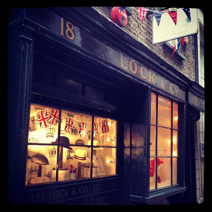 Bunting Photograph - Hat Shop Jubilee Style by Maeve O Connell