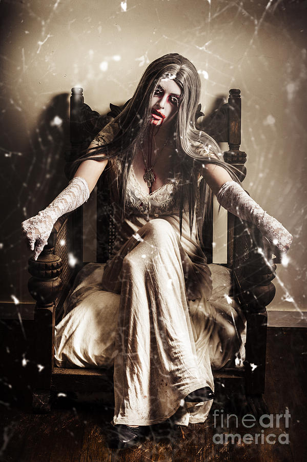 Evil Photograph - Haunting Horror Scene With A Strange Vampire Girl  by Jorgo Photography - Wall Art Gallery