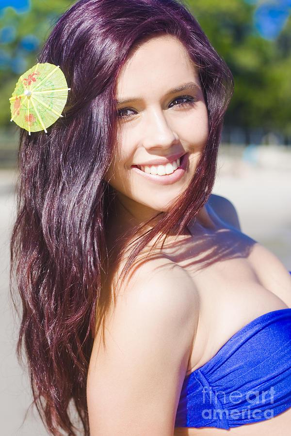 Attractive Photograph - Hawaiian Girl In Hawaii by Jorgo Photography - Wall Art Gallery