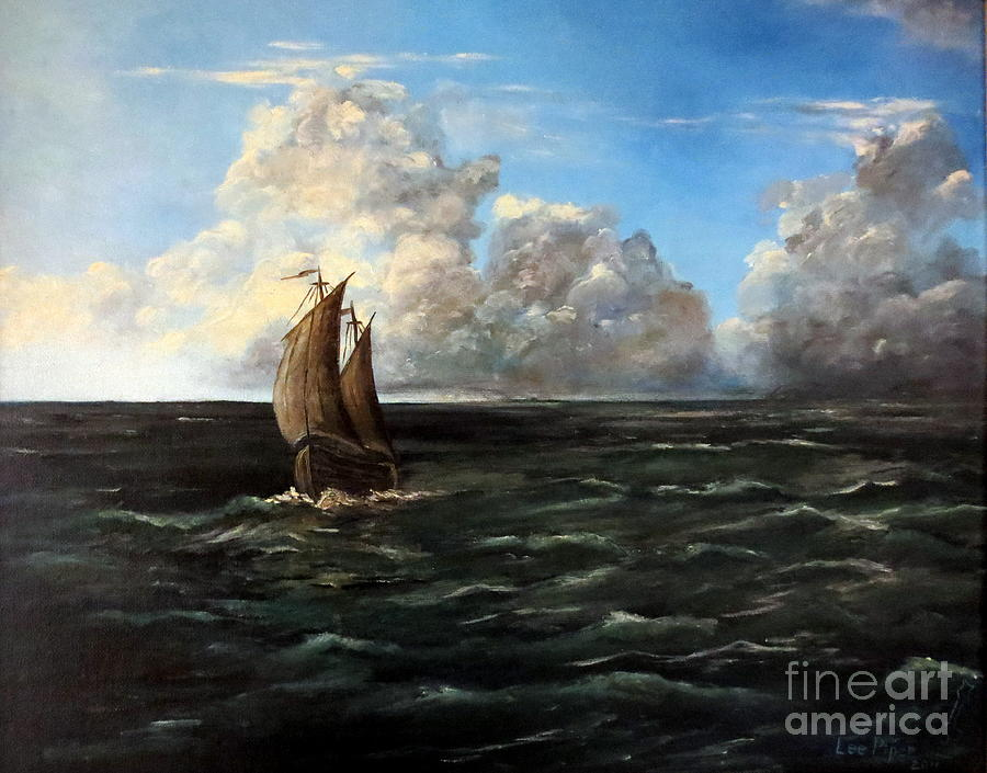 Seascape Painting - Heading For Shore by Lee Piper