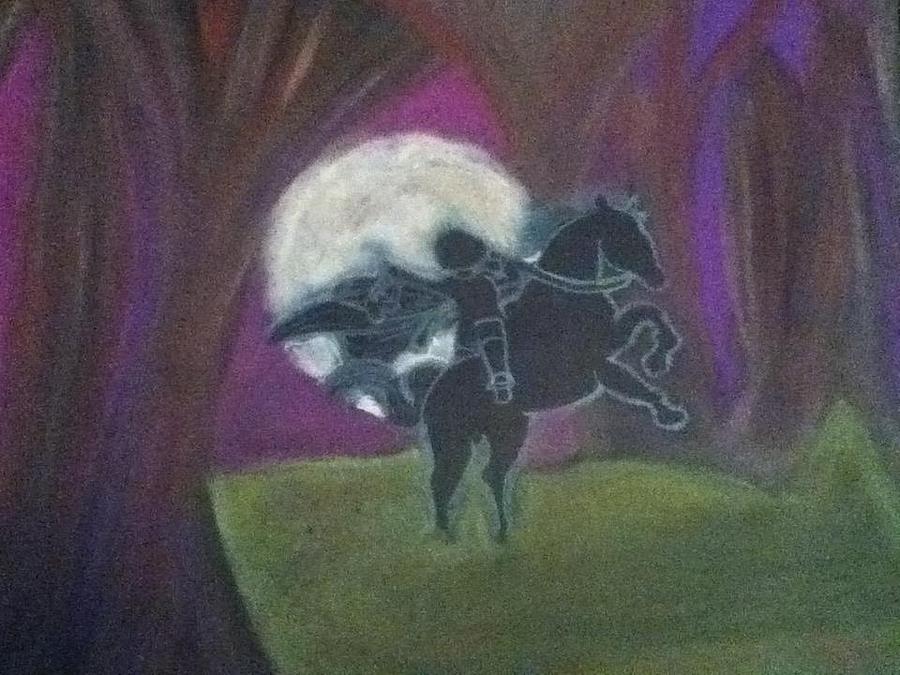 Headless Horseman  Drawing by Kae Mangan