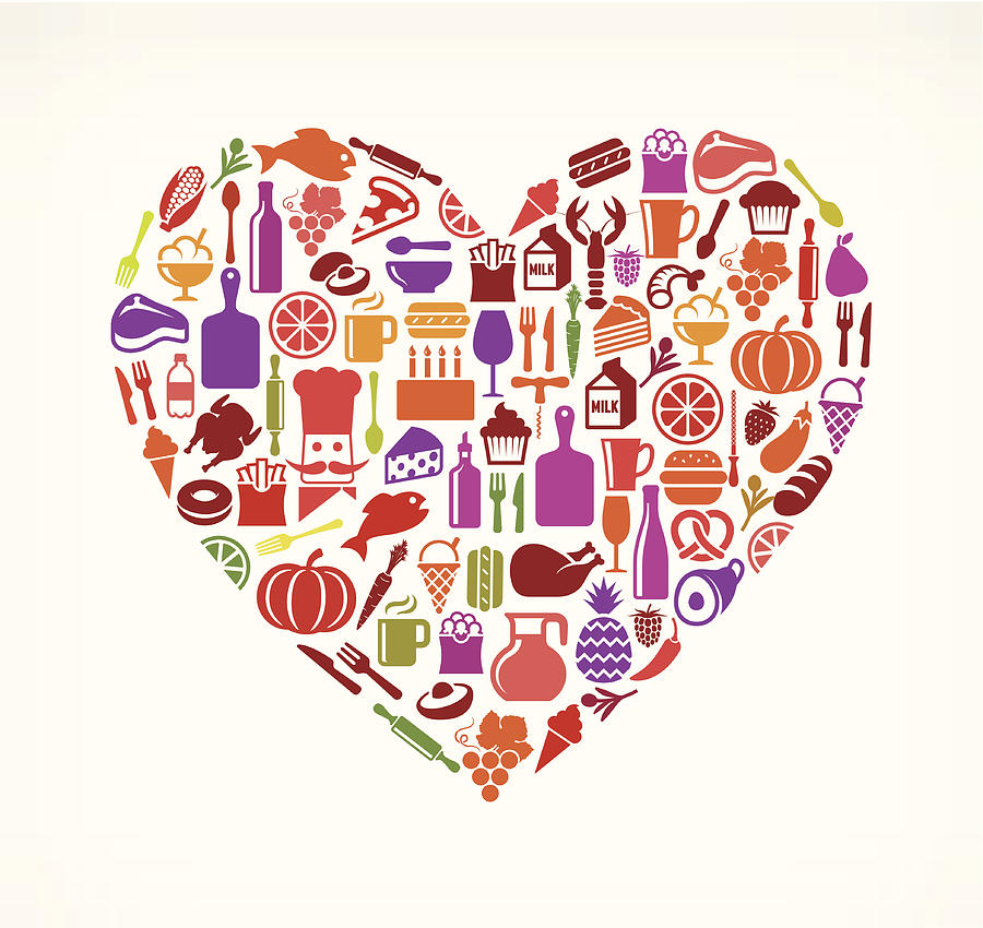 Heart Food & Drink Royalty Free Vector Digital Art by Bubaone