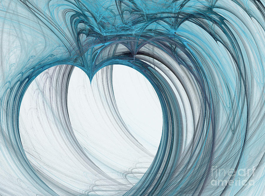 Heart Of Dreamy Forms And Colors Digital Art