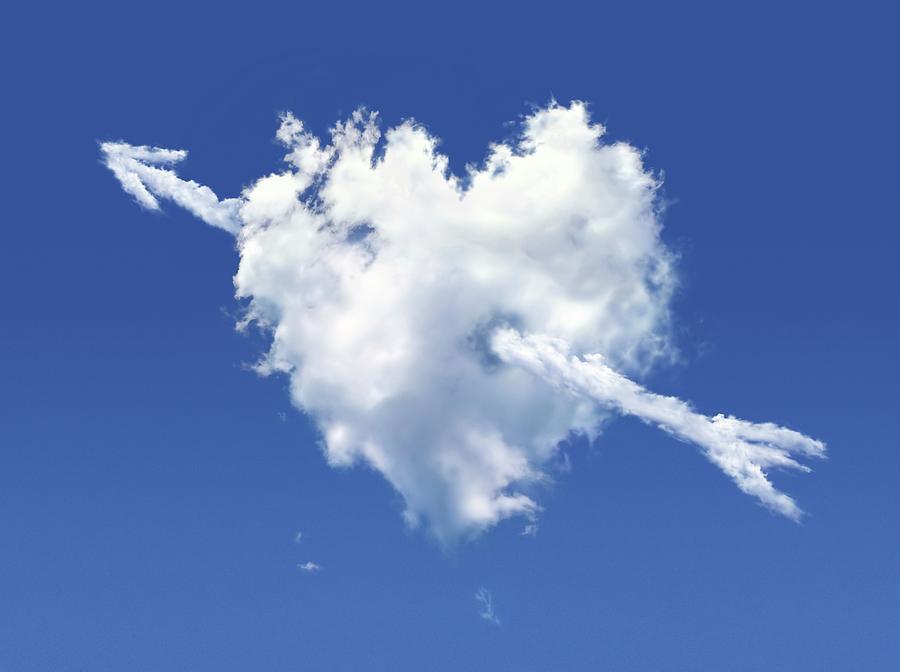 Heart-shaped Cloud, Artwork Digital Art by Leonello Calvetti