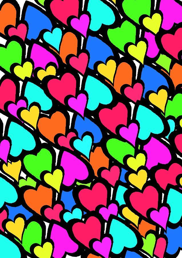 Hearts Digital Art - Hearts by Louisa Knight