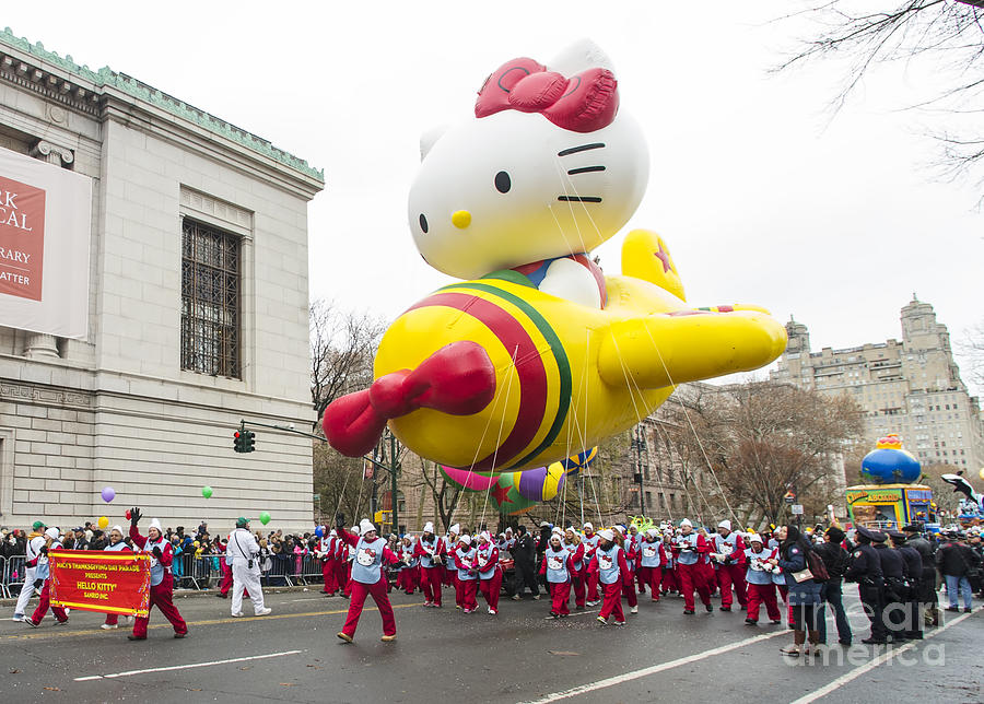 94f499c4d Hello Kitty Balloon At Macy's Thanksgiving Day Parade Photograph by ...