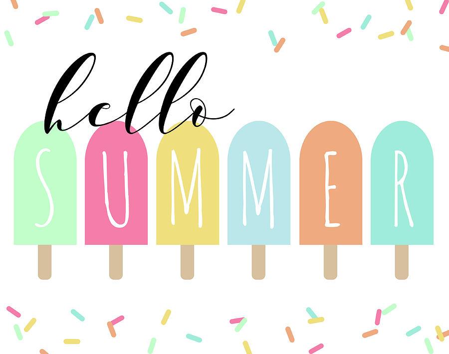 Hello Summer Painting by Anna Quach