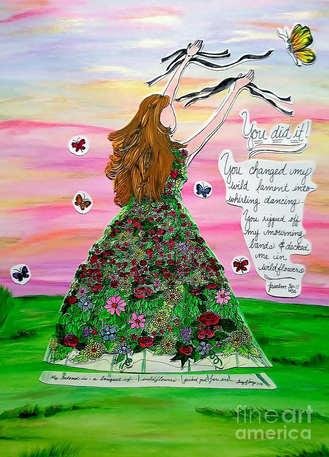 Wildflower Painting - Her Name Is Wildflower by Michelle Bentham