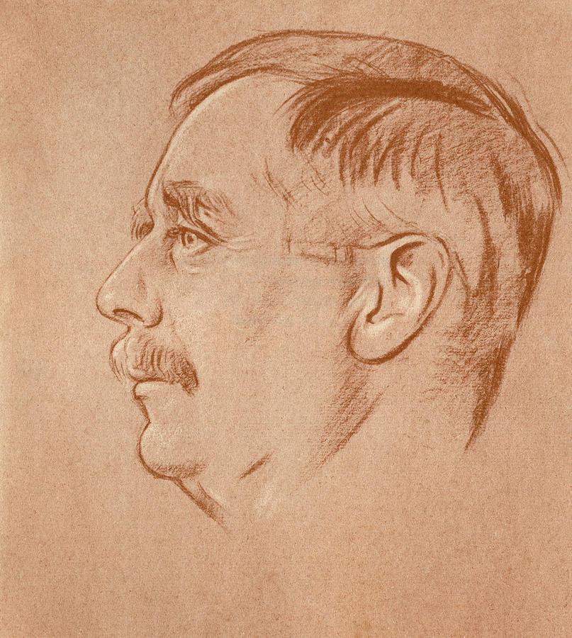 1920 Drawing - Herbert George Wells (1866-1946) by Granger