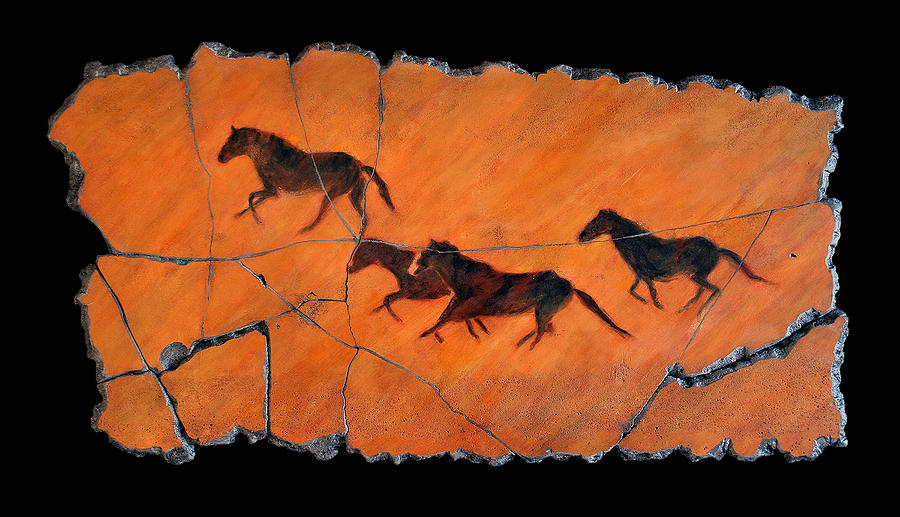 Horse Painting - High Desert Horses by Steve Bogdanoff