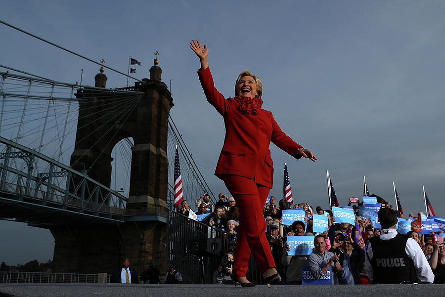 Hillary Clinton Campaigns In Ohio Ahead Photograph by Justin Sullivan