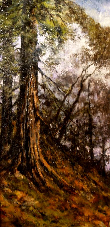 Trees Painting - Hillside Ancient by Jim Gola