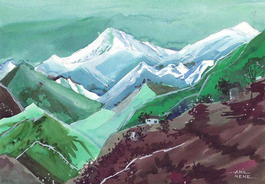 Nature Painting - Himalaya 2 by Anil Nene