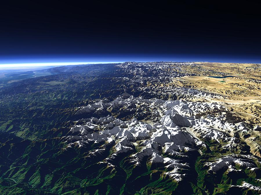 Himalaya Mountains Photograph - Himalayas by Christoph Hormann/science Photo Library