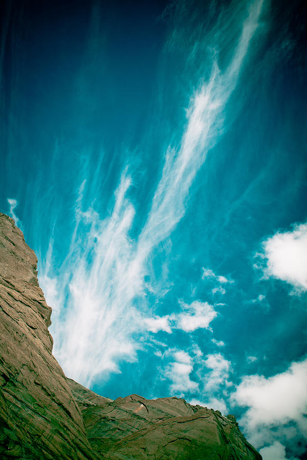 Landscape Photograph - Himalyas Mountains In Tibet With Clouds by Raimond Klavins
