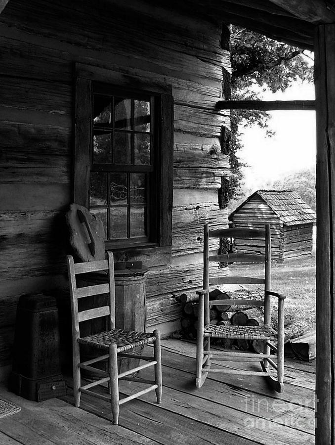 Log Cabins Photograph - His And Hers by Julie Dant