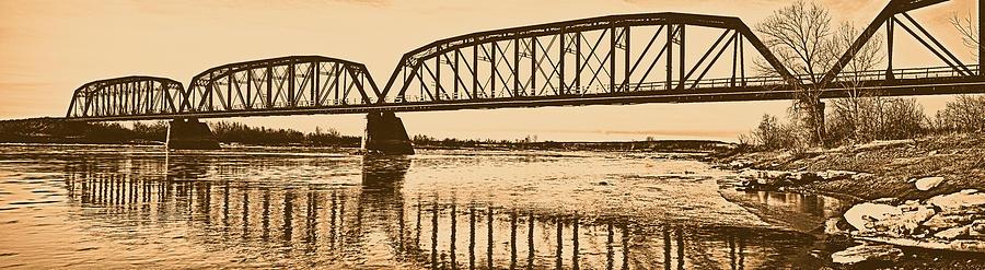 Aged Photograph - Historical Kinsey Bridge by Leland D Howard