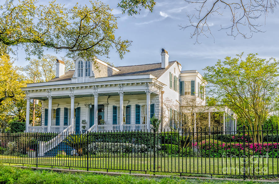 Mansions Photograph - Home On St. Charles Ave - Nola by Kathleen K Parker