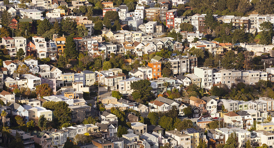San Francisco Photograph - Homes Of San Francisco by B Christopher