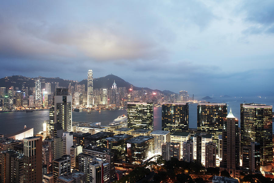 Hong Kong Skyline And Victoria Harbour 1 Photograph by Gary Yeowell